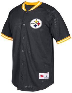 Mitchell & Ness Men's Pittsburgh Steelers Seasoned Pro Mesh Button Front Shirt