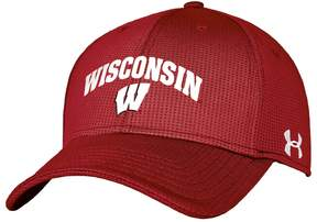 Under Armour Adult Wisconsin Badgers Blitzing Stretch-Fit Cap