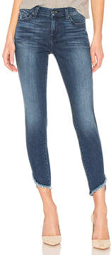 7 For All Mankind Ankle Skinny With Frayed Angled Hem.