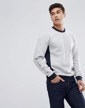 Jack Wills Glenthorne Sweat In Gray Marl
