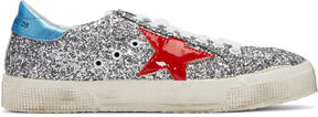 Golden Goose Deluxe Brand Silver Glitter May Sneakers