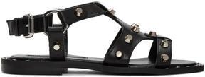 McQ Black Solenie Gladiator Sandals