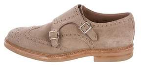 Brunello Cucinelli Brogue Monk Strap Shoes