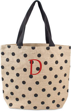 Cathy's Concepts Personalized Black Polka Dot Tote Bag