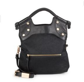 Leather & Calf Hair Crossbody