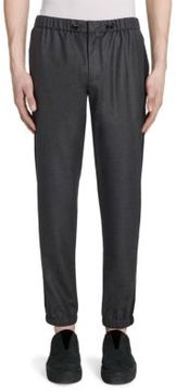 Emporio Armani Slim-Fit Wool Jogger Pants