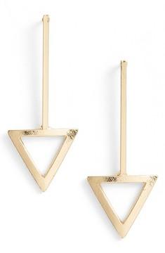 Ettika Women's Triangle Drop Earrings