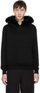Opening Ceremony Black Limited Edition Fur Trim Hoodie