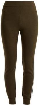 Fendi Side-stripe wool aprés-ski leggings