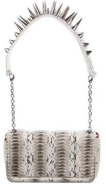 Christian Louboutin Embellished Snakeskin Artemis Bag