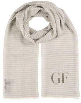 Gianfranco Ferre Scr5026 Az Blue/beige Stripe Scarf.