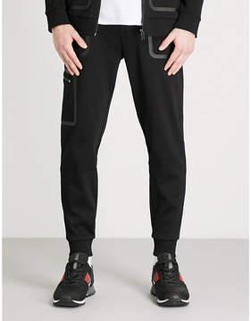HUGO Contrast-trim cotton-jersey jogging bottoms