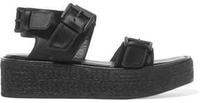 Ann Demeulemeester Satin Platform Sandals - Black