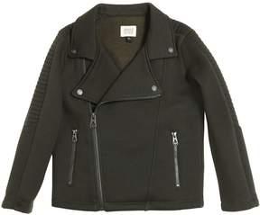 Armani Junior Cotton Sweatshirt Biker Jacket