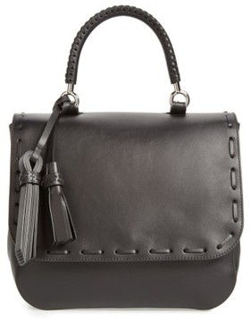Max Mara Bobag Leather Satchel - Black