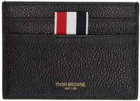 Thom Browne Black Perforated Stripe Card Holder