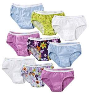 Hanes Girls' Assorted Print Hipsters Underwear