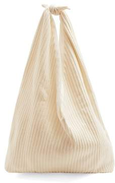 The Row Bindle Ribbed Knit Cashmere Shoulder Bag - Womens - Ivory