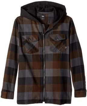Vans Kids Never Mind Hooded Flannel Boy's Clothing