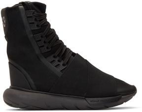 Y-3 Black Qasa High-Top Sneakers