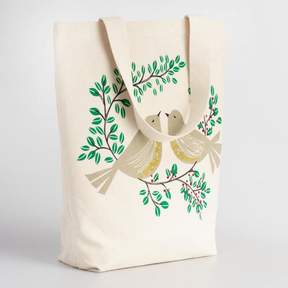 World Market Turtledoves Canvas Tote Bag