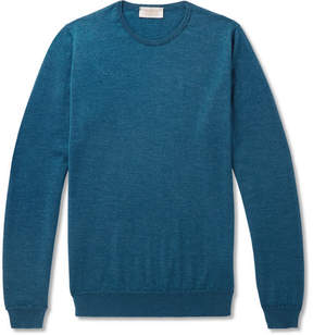 John Smedley Norland Slim-Fit Mélange Cashmere And Silk-Blend Sweater