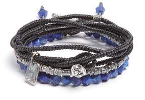 M. Cohen Set of three lapis and silver bracelets