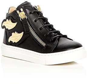 Giuseppe Zanotti Girls' Birel Embellished High Top Sneakers - Baby, Walker, Toddler