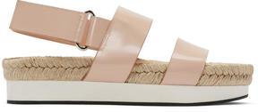 Flamingos Pink Mondrian Sandals