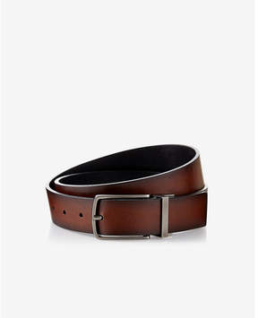 Express reversible antiqued metal buckle belt