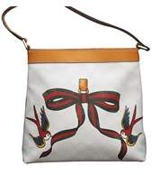 Gucci White Canvas Bird Ribbon Tattoo Meier Hobo Bag. - WHITE - STYLE