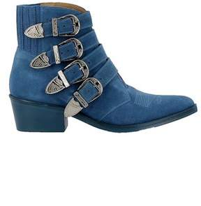 Toga Pulla Women's Blue Suede Ankle Boots.