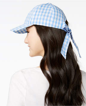 INC International Concepts I.n.c. Gingham Bow-Back Baseball Cap, Created for Macy's