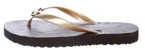 Michael Kors Logo Thong Sandals