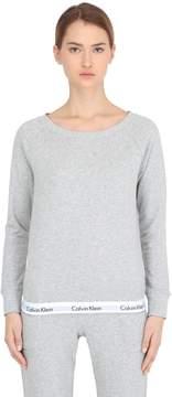 Calvin Klein Underwear Logo Trim Cotton Sweatshirt