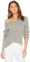 Central Park West Leeds Lace Up Sweater in Gray