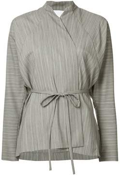 CHRISTOPHER ESBER striped wrap blouse