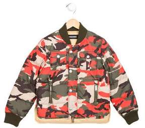 DSQUARED2 Boys' Camo Down Coat w/ Tags