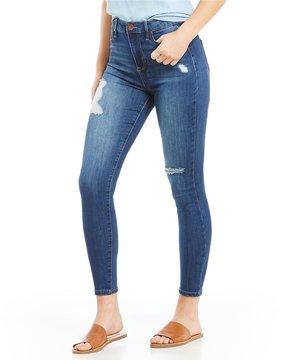 Celebrity Pink Destructed High Rise Ankle Skinny Jeans