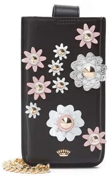 Juicy Couture Black Leather Bel Air Bijoux Phone Crossbody