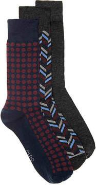 Aldo Men's Textured Dots Men's's Crew Socks - 3 Pack