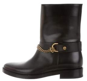 Lanvin Moto Leather Mid-Calf Boots