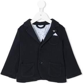 Emporio Armani Kids chest pocket blazer