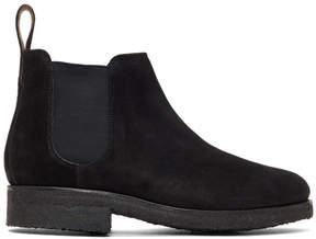 Grenson Black Suede Hayden Chelsea Boots