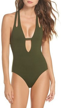 Becca Women's Color Code Plunge One-Piece Swimsuit