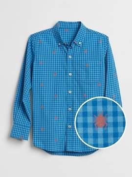 Gap Lady Plaid Button-Down Shirt in Poplin