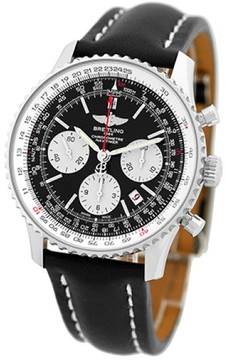 Breitling Navitimer Stainless Steel Chronograph Strap Mens Watch
