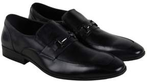 Steve Madden Mendal Black Leather Mens Casual Dress Loafers