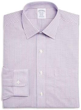 Brooks Brothers Double Windowpane Check Regular Fit Dress Shirt
