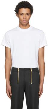 Helmut Lang White Skinny Tall Military T-Shirt